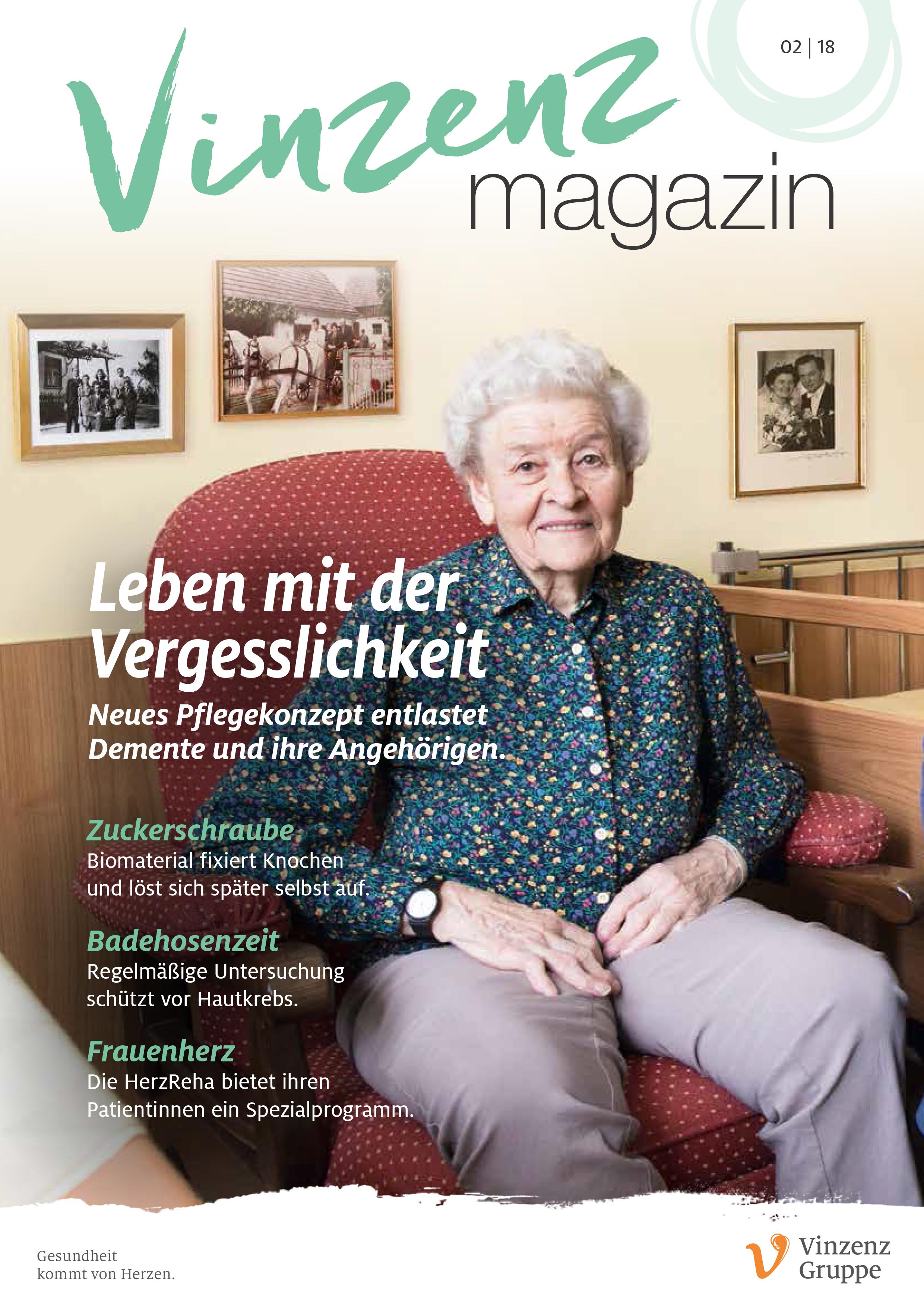 Vinzenz magazin, Ausgabe 2/2018